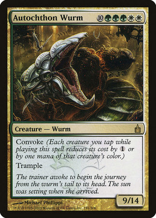 Autochthon Wurm [Ravnica: City of Guilds] | Eastridge Sports Cards & Games