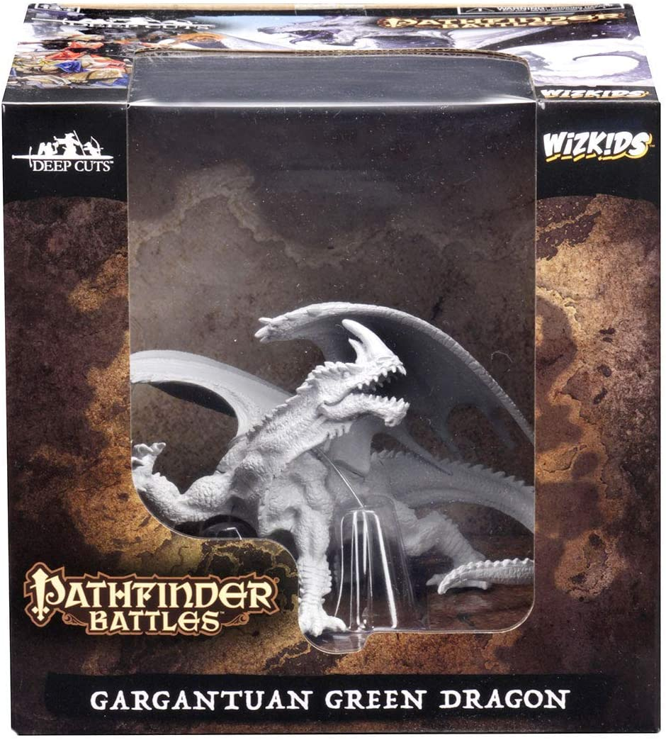 Pathfinder Unpainted Mini: Gargantuan Green Dragon | Eastridge Sports Cards & Games