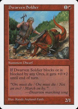 Dwarven Soldier [Fifth Edition] | Eastridge Sports Cards & Games