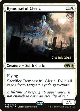 Remorseful Cleric [Core Set 2019 Promos] | Eastridge Sports Cards & Games