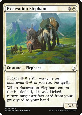 Excavation Elephant [Dominaria] | Eastridge Sports Cards & Games