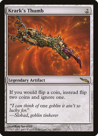 Krark's Thumb [Mirrodin] | Eastridge Sports Cards & Games