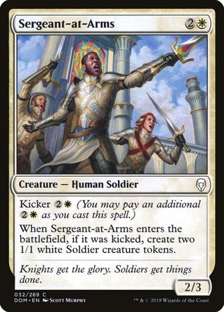 Sergeant-at-Arms [Dominaria] | Eastridge Sports Cards & Games