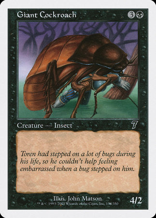 Giant Cockroach [Seventh Edition] | Eastridge Sports Cards & Games