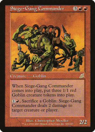 Siege-Gang Commander [Scourge] | Eastridge Sports Cards & Games