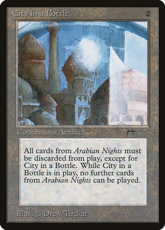 City in a Bottle [Arabian Nights] | Eastridge Sports Cards & Games
