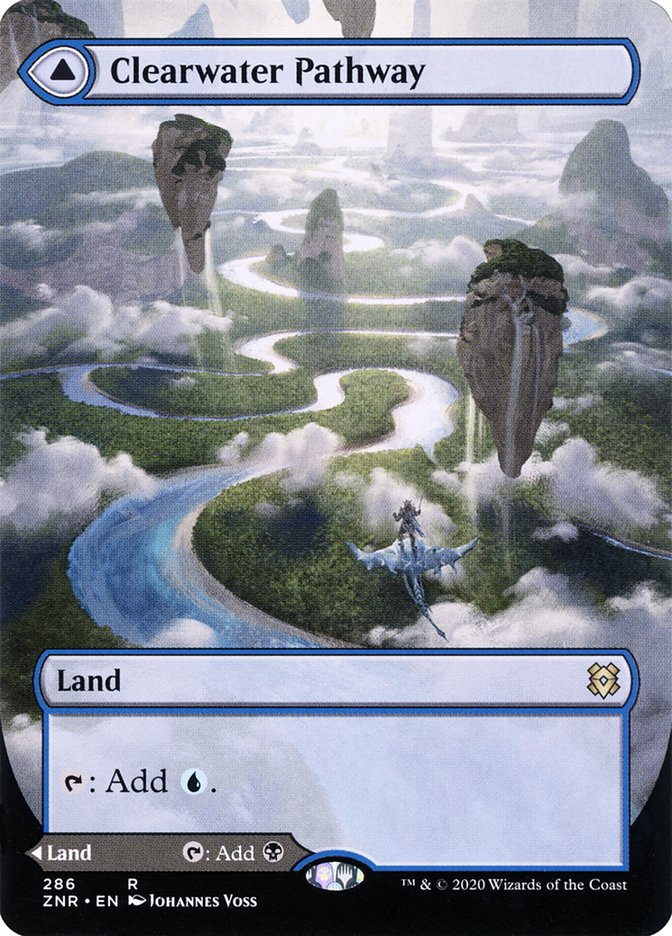 Clearwater Pathway // Murkwater Pathway (Borderless) [Zendikar Rising] | Eastridge Sports Cards & Games