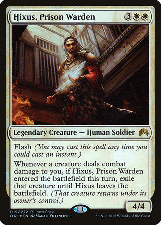 Hixus, Prison Warden [Magic Origins Promos] | Eastridge Sports Cards & Games