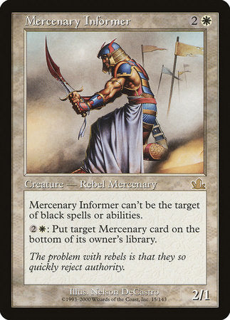 Mercenary Informer [Prophecy] | Eastridge Sports Cards & Games