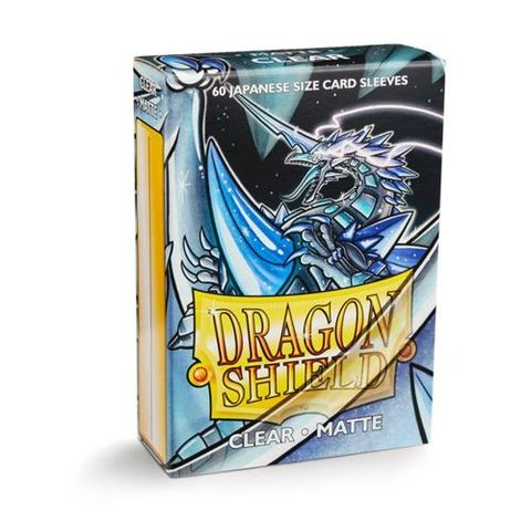 Dragon Shield Sleeves: Japanese Matte Clear (Box Of 60) | Eastridge Sports Cards & Games