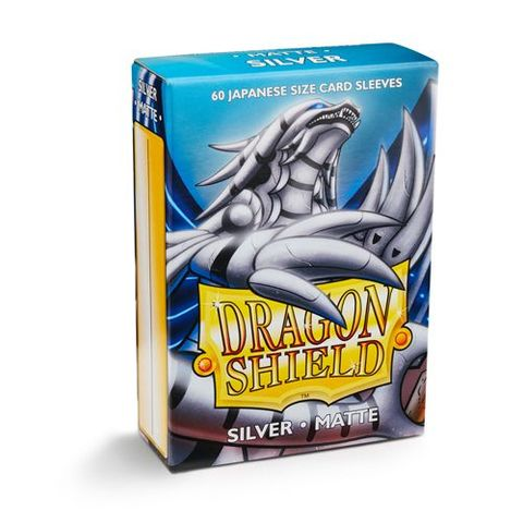 Dragon Shield Sleeves: Japanese Matte Silver (Box Of 60) | Eastridge Sports Cards & Games