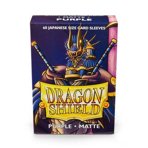 Dragon Shield Sleeves: Japanese Matte Purple (Box Of 60) | Eastridge Sports Cards & Games