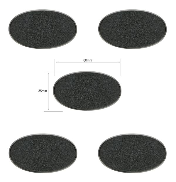 Oval Base - 60 x 35mm (5 pack) | Eastridge Sports Cards & Games