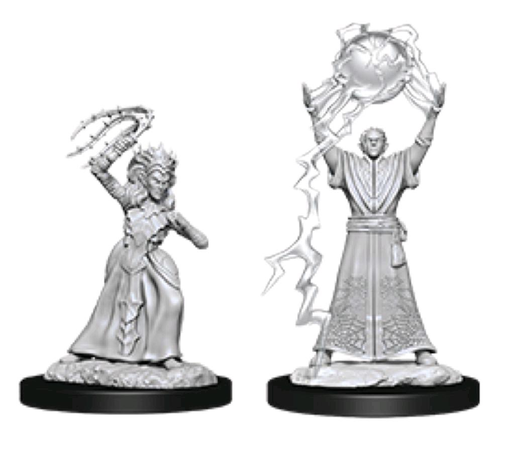 D&D Nolzur's Marvelous Unpainted Miniatures: Drow Mage and Drow Priestess | Eastridge Sports Cards & Games