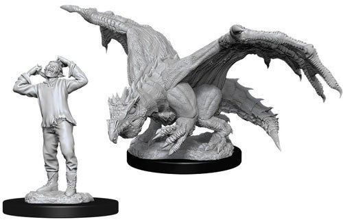 D&D Nolzur's Marvelous Unpainted Miniatures: Green Dragon Wyrmling and Afflicted Elf | Eastridge Sports Cards & Games