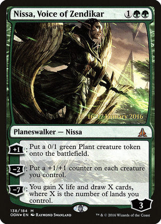 Nissa, Voice of Zendikar [Oath of the Gatewatch Promos] | Eastridge Sports Cards & Games