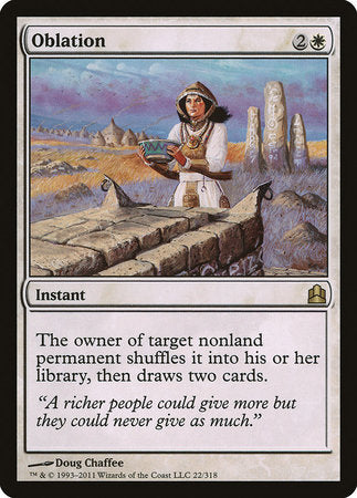 Oblation [Commander 2011] | Eastridge Sports Cards & Games