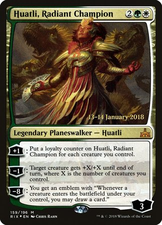 Huatli, Radiant Champion [Rivals of Ixalan Promos] | Eastridge Sports Cards & Games