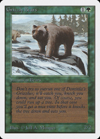 Grizzly Bears [Unlimited Edition] | Eastridge Sports Cards & Games