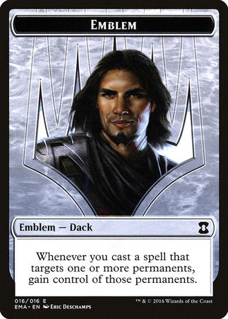 Emblem - Dack Fayden [Eternal Masters Tokens] | Eastridge Sports Cards & Games