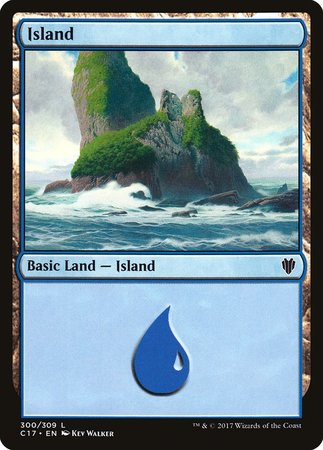 Island (300) [Commander 2017] | Eastridge Sports Cards & Games