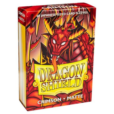 Dragon Shield Sleeves: Japanese Matte Crimson (Box Of 60) | Eastridge Sports Cards & Games