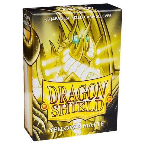 Dragon Shield Sleeves: Japanese Matte Yellow (Box Of 60) | Eastridge Sports Cards & Games