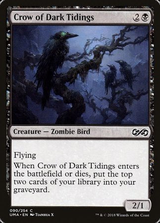 Crow of Dark Tidings [Ultimate Masters] | Eastridge Sports Cards & Games
