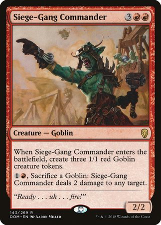 Siege-Gang Commander [Dominaria] | Eastridge Sports Cards & Games