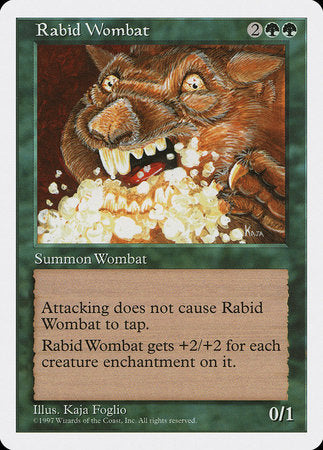 Rabid Wombat [Fifth Edition] | Eastridge Sports Cards & Games