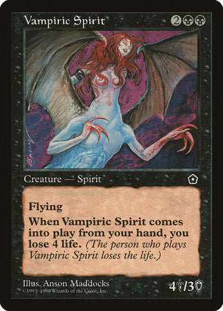 Vampiric Spirit [Portal Second Age] | Eastridge Sports Cards & Games