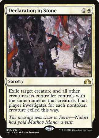 Declaration in Stone [Shadows over Innistrad] | Eastridge Sports Cards & Games