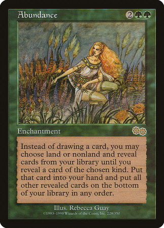 Abundance [Urza's Saga] | Eastridge Sports Cards & Games