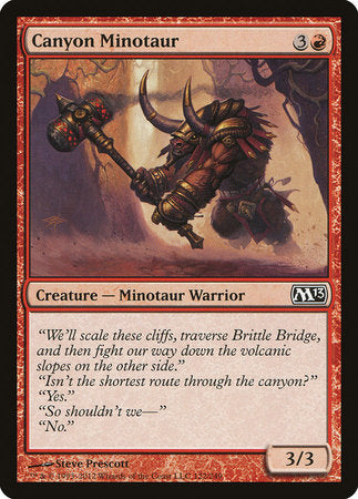 Canyon Minotaur [Magic 2013] | Eastridge Sports Cards & Games