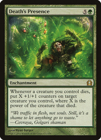Death's Presence [Return to Ravnica] | Eastridge Sports Cards & Games