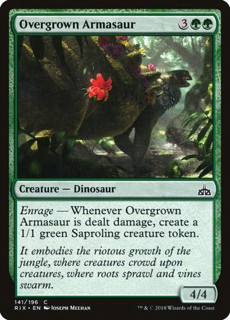 Overgrown Armasaur [Rivals of Ixalan] | Eastridge Sports Cards & Games