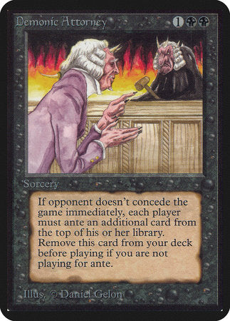 Demonic Attorney [Limited Edition Alpha] | Eastridge Sports Cards & Games