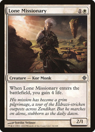 Lone Missionary [Rise of the Eldrazi] | Eastridge Sports Cards & Games