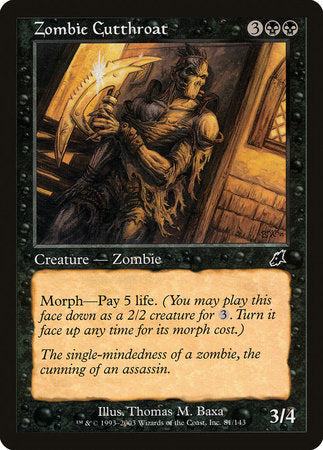 Zombie Cutthroat [Scourge] | Eastridge Sports Cards & Games