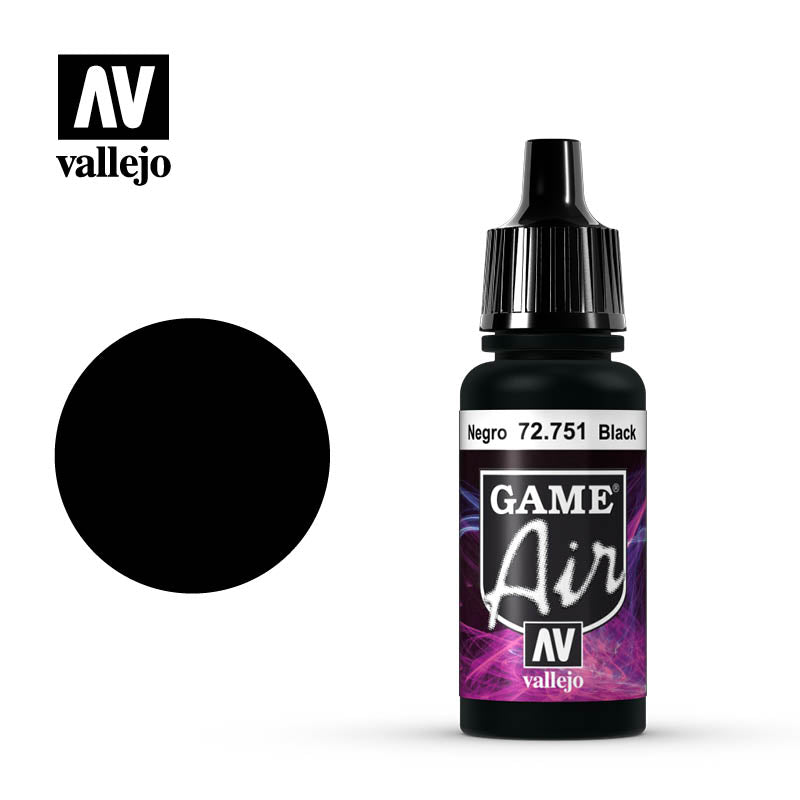 VALLEJO GAME AIR: BLACK (17ML) | Eastridge Sports Cards & Games