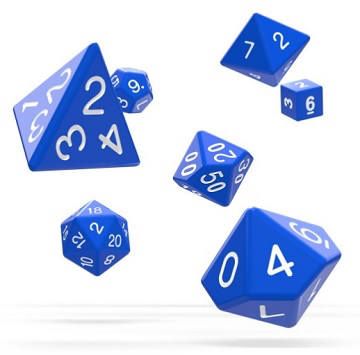 OAKIE DOAKIE RPG SOLID 7 DIE SET: BLUE | Eastridge Sports Cards & Games