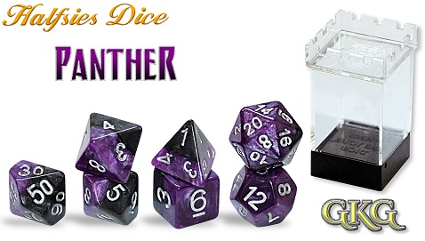 GATE KEEPER GAMES HALFSIES DICE - PANTHER 7-DICE SET | Eastridge Sports Cards & Games