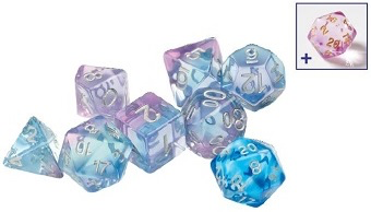 SIRIUS DICE SEMI-TRANSLUCENT POLYROLLER 7-DIE SET | Eastridge Sports Cards & Games