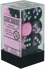 CHESSEX Gemini 12D6 Black-Pink/White 16MM (CHX26630) | Eastridge Sports Cards & Games