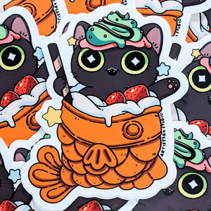 Cat Taiyaki Dessert Sticker