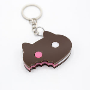 Cookie Cat Bitten Keychain!