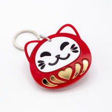 Load image into Gallery viewer, Daruma Cat Keychain