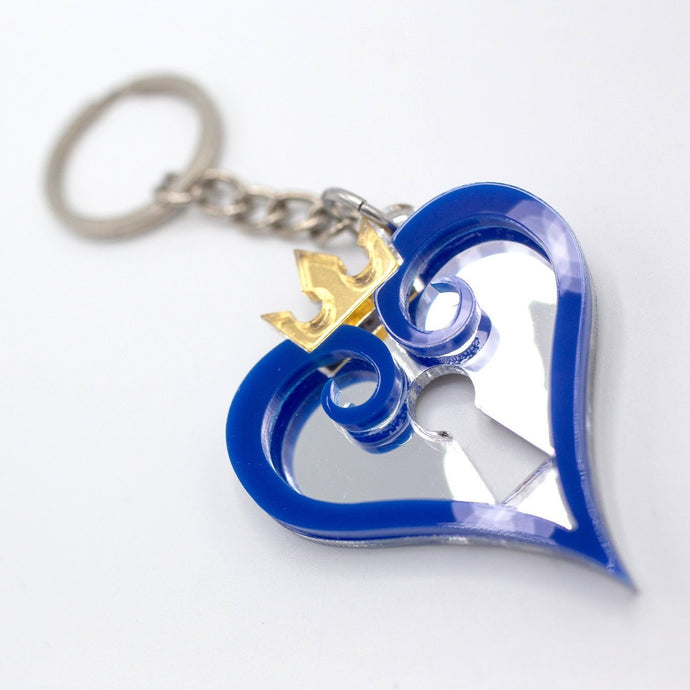KH Blue Heart Key chain