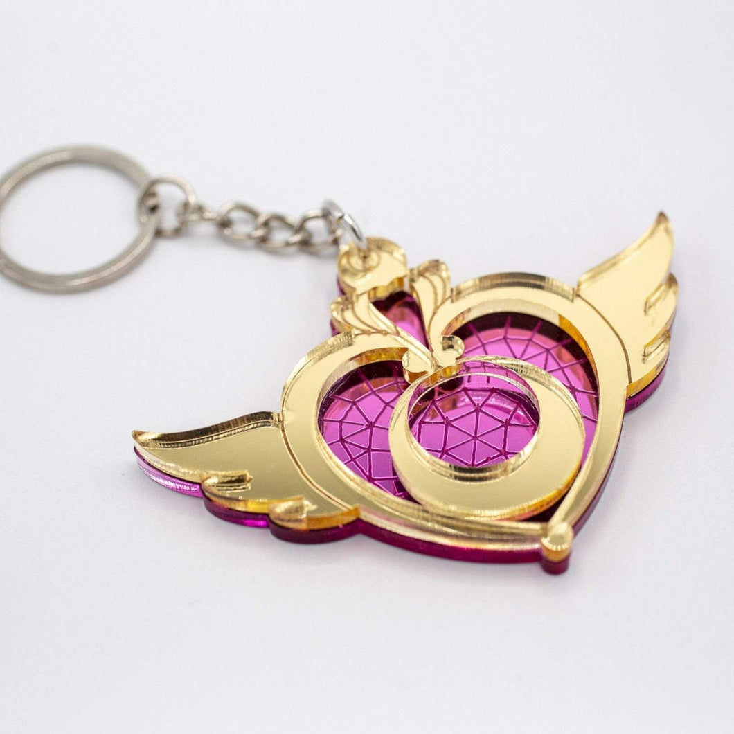 Magical Heart Moon Acrylic Keychain