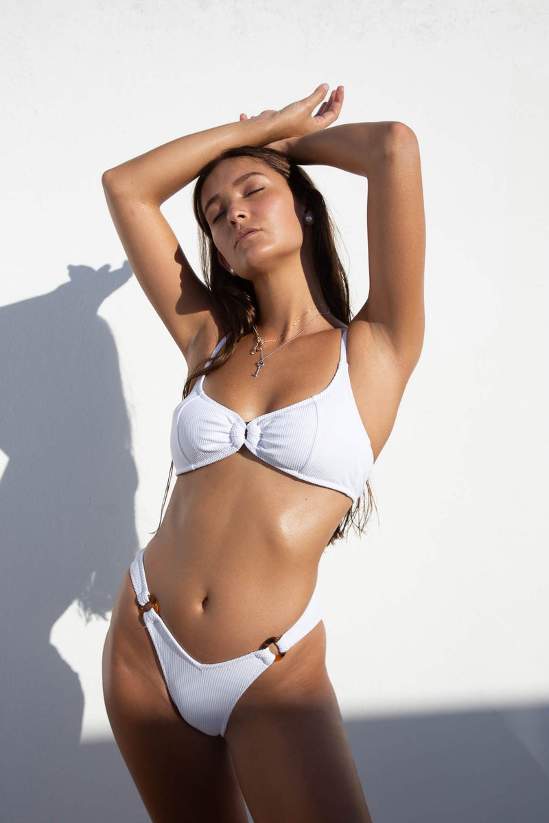 WHITE STRIPES / BIKINI TOP